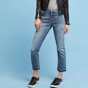 NWT Current/Elliott Jeans The Cropped Straight Mid